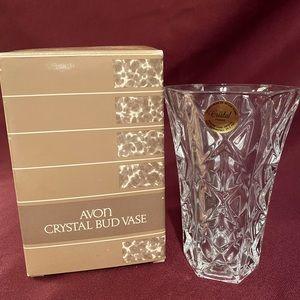 Avon crystal vase